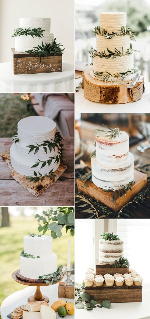 20 Trending Simple And Rustic Wedding Cakes