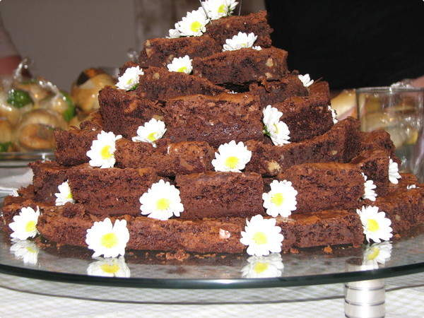 piramide de brownie