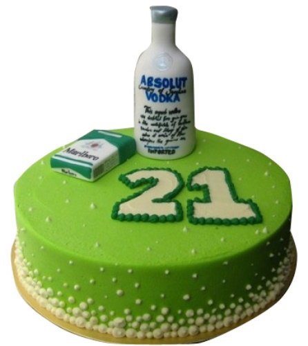 Birthday Cake For A 21 Years Old