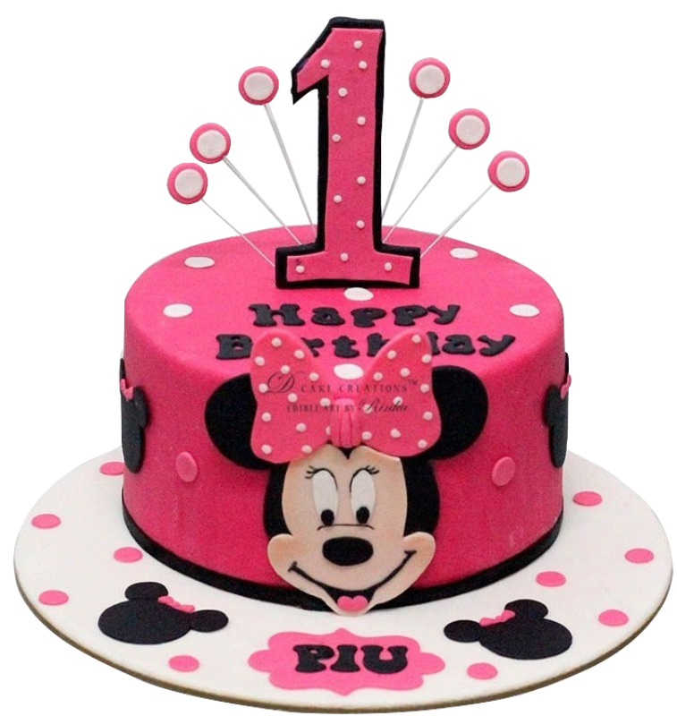 Minnie Mouse Birthday Cake For Kids