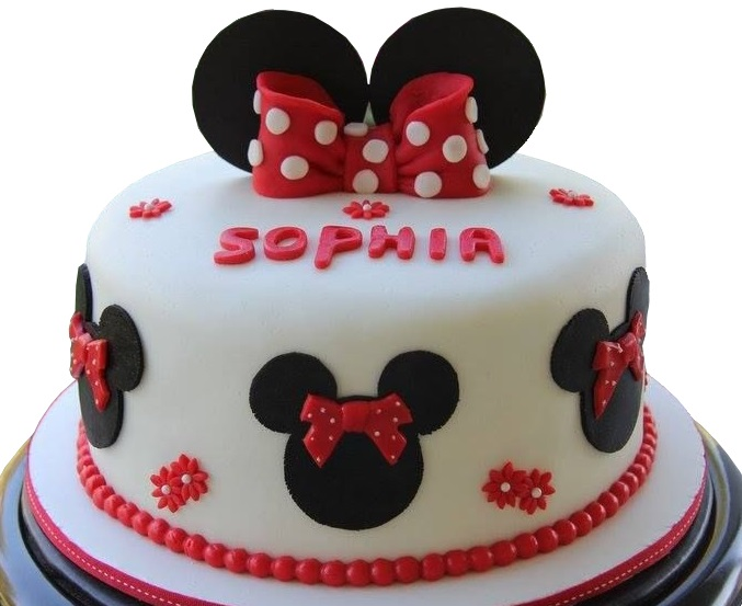 Minnie Mouse Birthday Cake Gluten Free Eggless Opitons