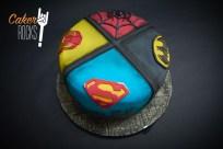 Tarta Superheroes