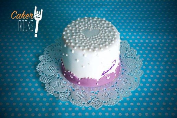 Mini tarta San Valentín