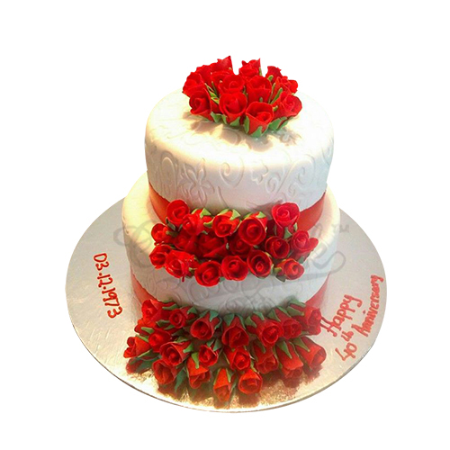 Wedding Red Rose Cake
