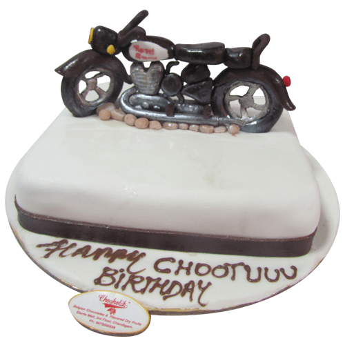 Bullet Birthaday Cake Chandigarh Cakes Delivery Home Delivery of