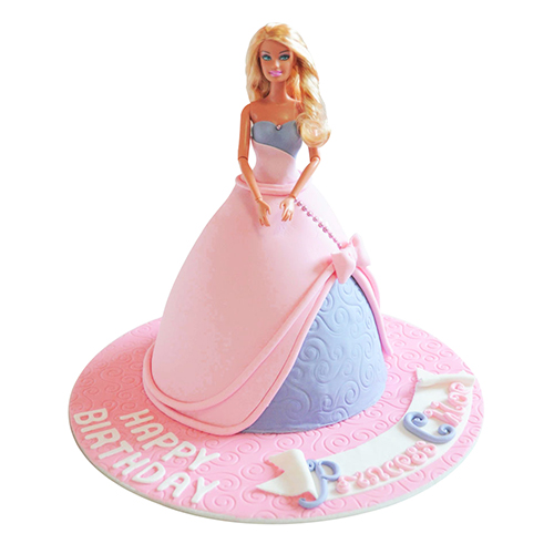 barbie doll cake princess doll cake chandigarh cakes delivery 1499