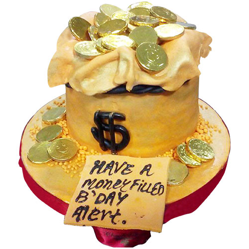 Money Filled Birthday Cake