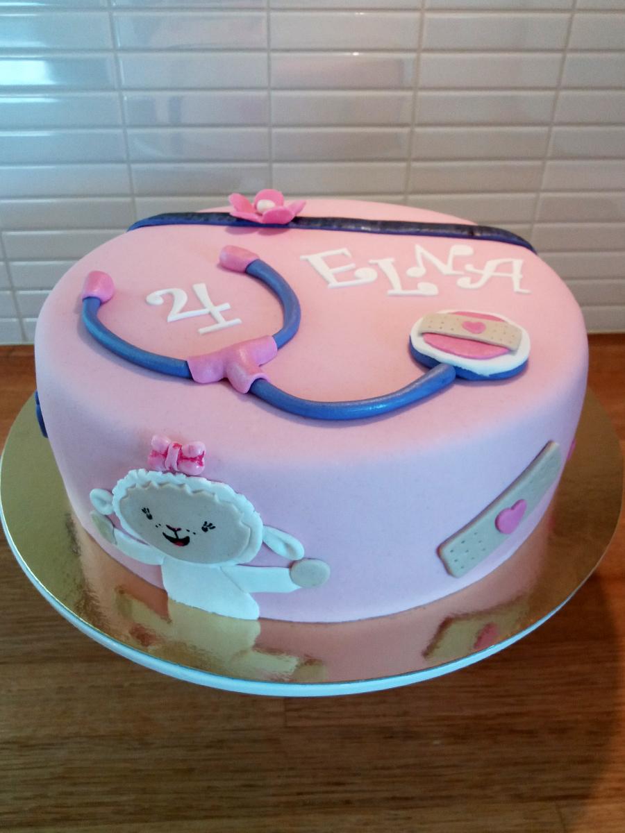 Doc McStuffins cake - dr mcstuffins tårta