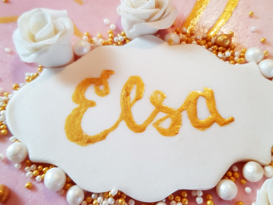 Elsas rosa tårta