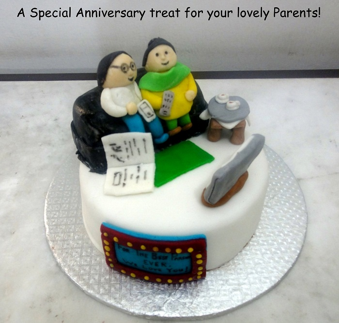 Special Anniversary Cake for Parents Cakespk
