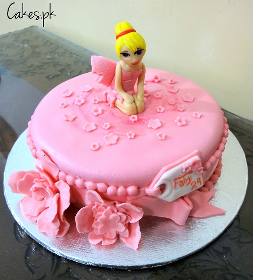 Pink fairy cake for How to make fairy cupcakes