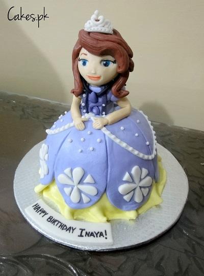 3D Princess Sofia Cake Cakespk