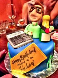 Financial Analyst Themed Cake