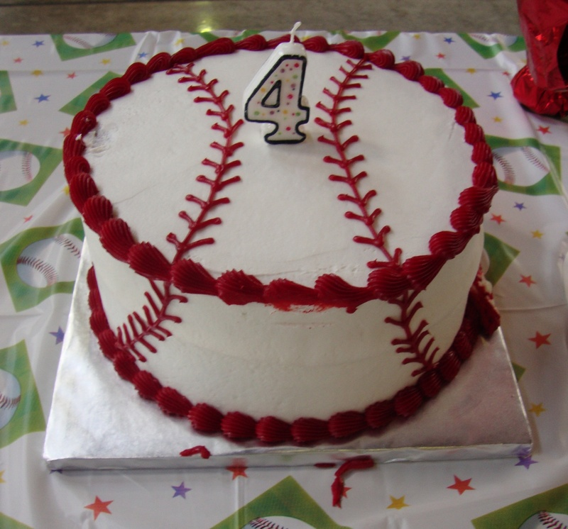 Double Layer Baseball Cake Cakes Amp Crumbles