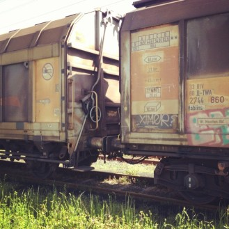 Faded trains