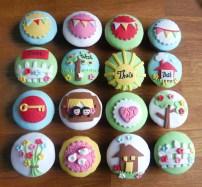 Verhuizen thema cupcakes 1,75/stuk