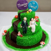 """""""Charlie and the Chocolate Factory"""" Wedding Cake"""