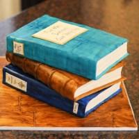 Birthday Book Cake