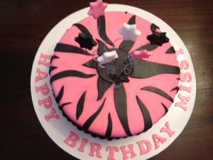Happy Birthday Missy Zebra Print Amp Stars Cakes By Cathy