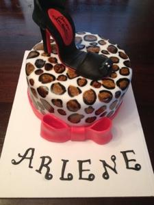 Happy Birthday Arlene A Leopard Print Gal Cakes By