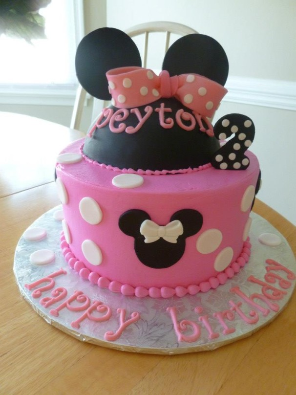 Pink Minnie Mouse Cakes By Crystal