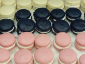 Pink, Black and White Macarons