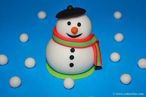 How to Make Fondant Snowman