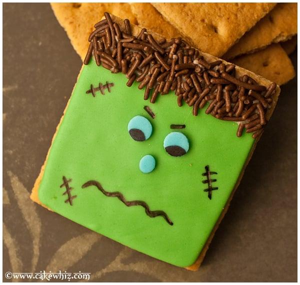 How to Decorate Frankenstein Cookies