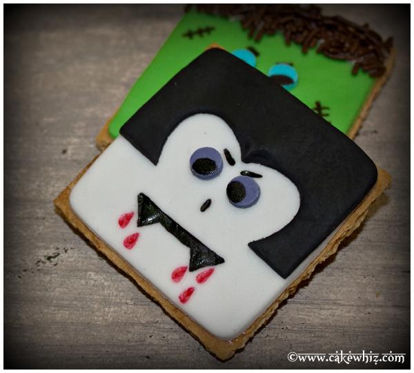 Easy Dracula Cookies or Vampire Cookies For Halloween Parties