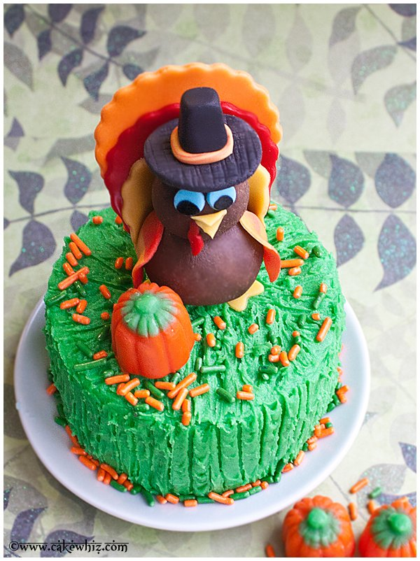 how to make turkey topper for cakes and cupcakes 3