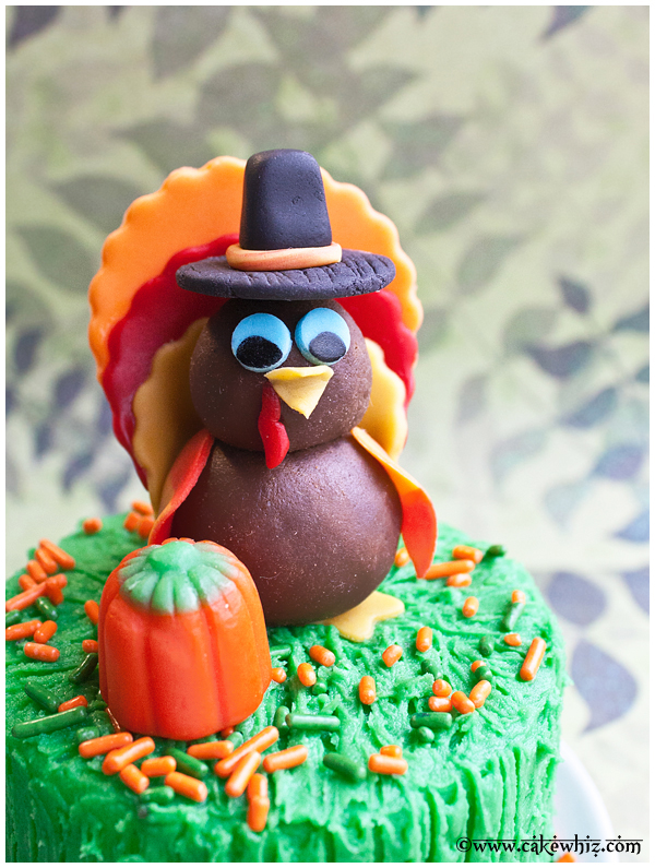 how to make turkey topper for cakes and cupcakes 1