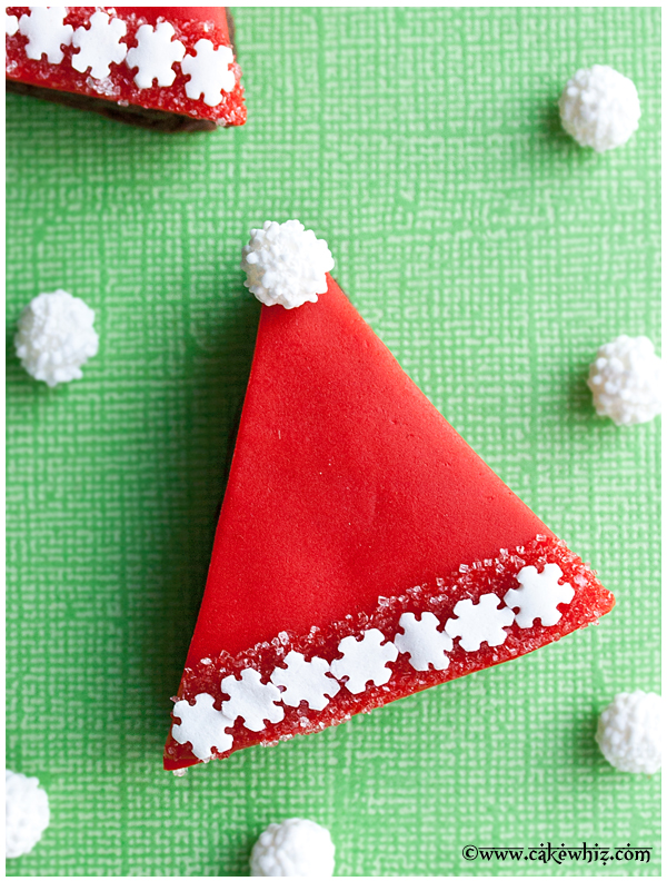 santa hat brownies 4
