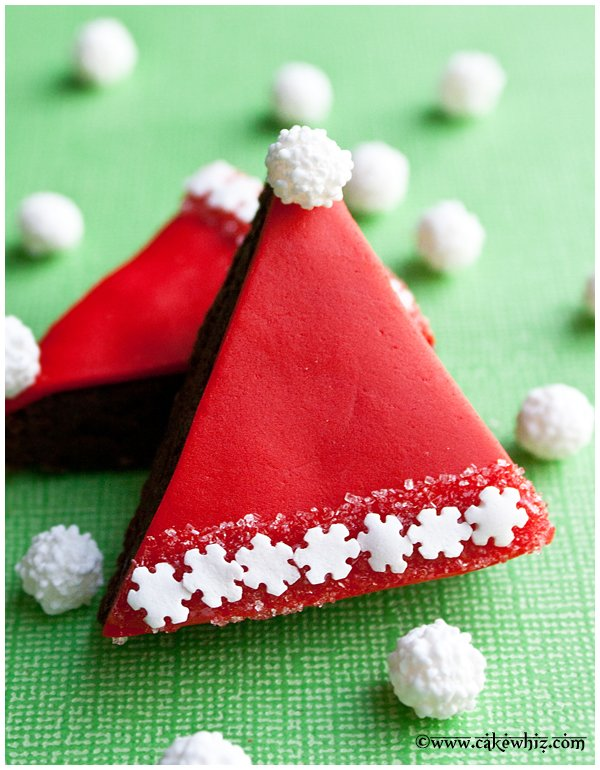 santa hat brownies 1