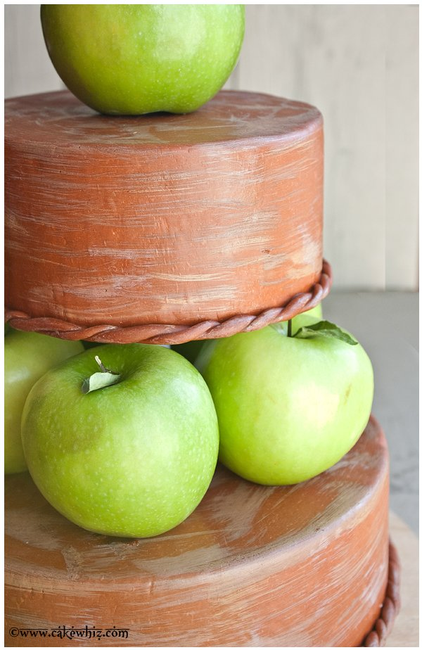 fall themed tiered apple cake 4