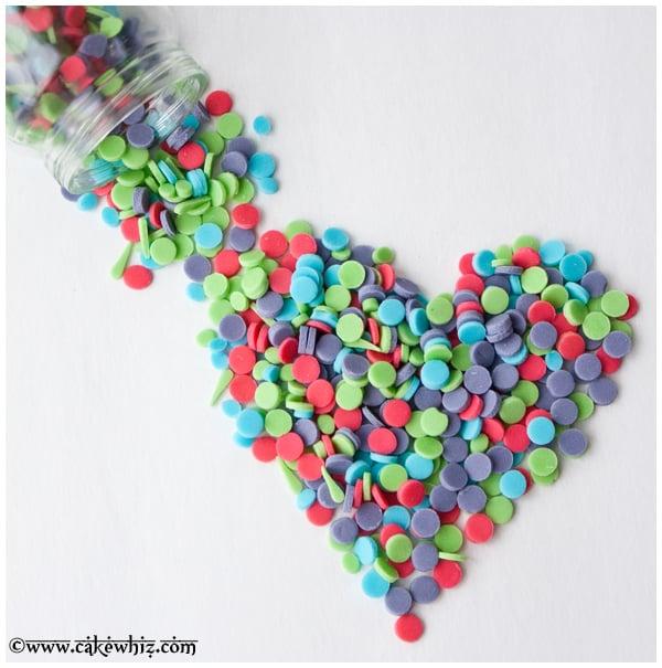 how to make homemade confetti sprinkles 3