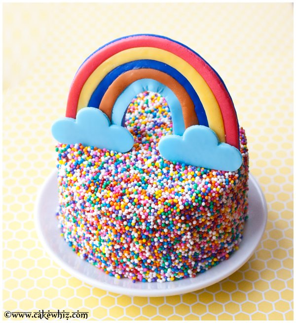 rainbow sprinkles cake 2