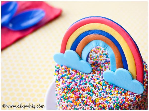 rainbow sprinkles cake 3