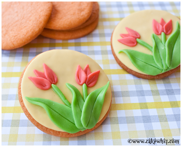 Easy Tulip Sugar Cookies Without Tulip Cookie Cutter