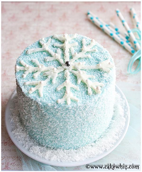 chocolate snowflake cake 2