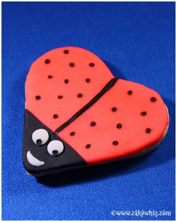 Heart Cookies- Ladybug