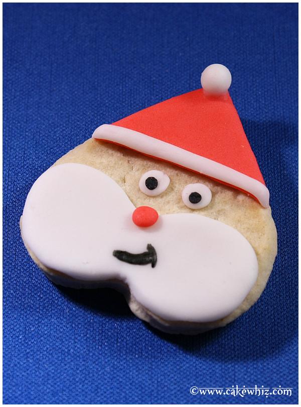 Heart Cookies- Santa