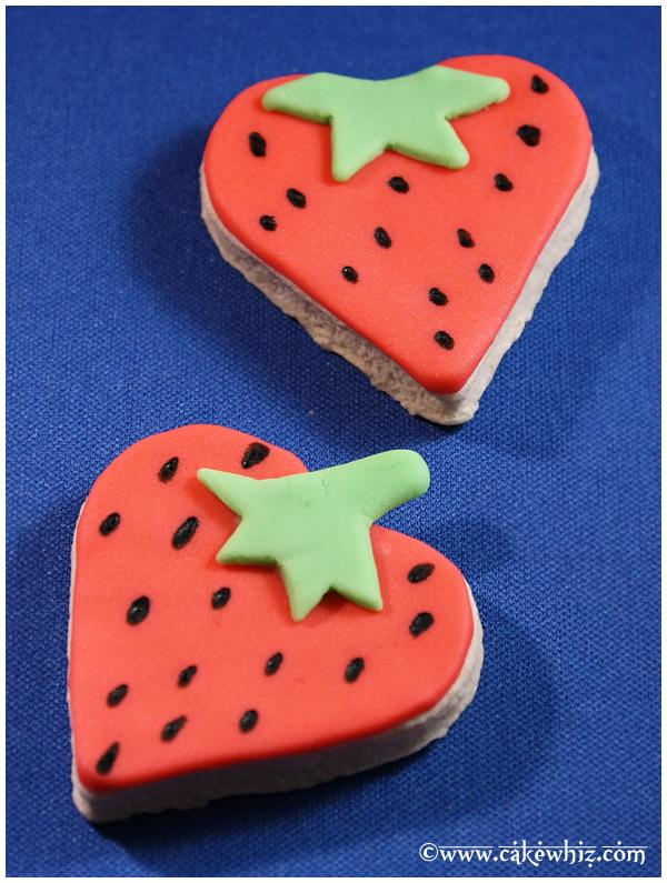 Heart Cookies- Strawberries