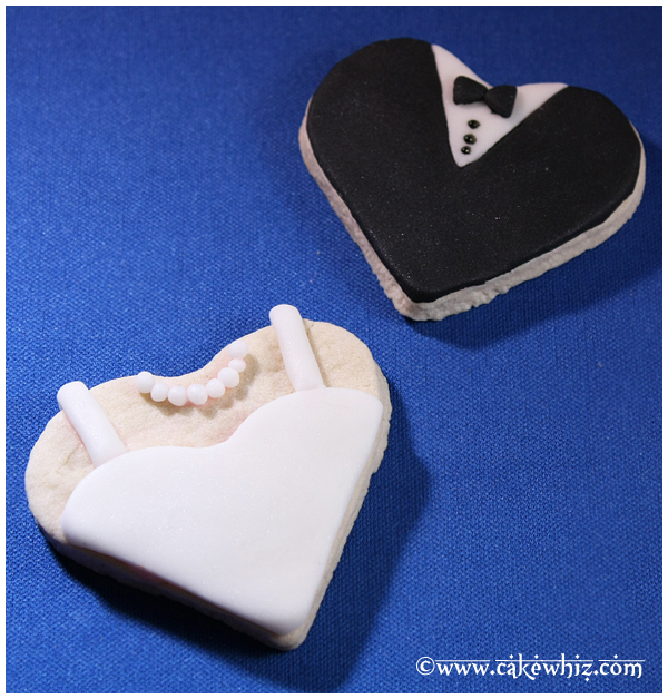 Heart Cookies- Tuxedo, Wedding dress
