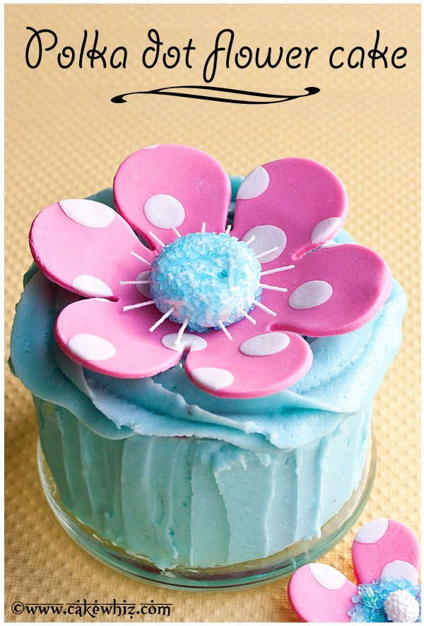 How to Make Fondant Flower Cake