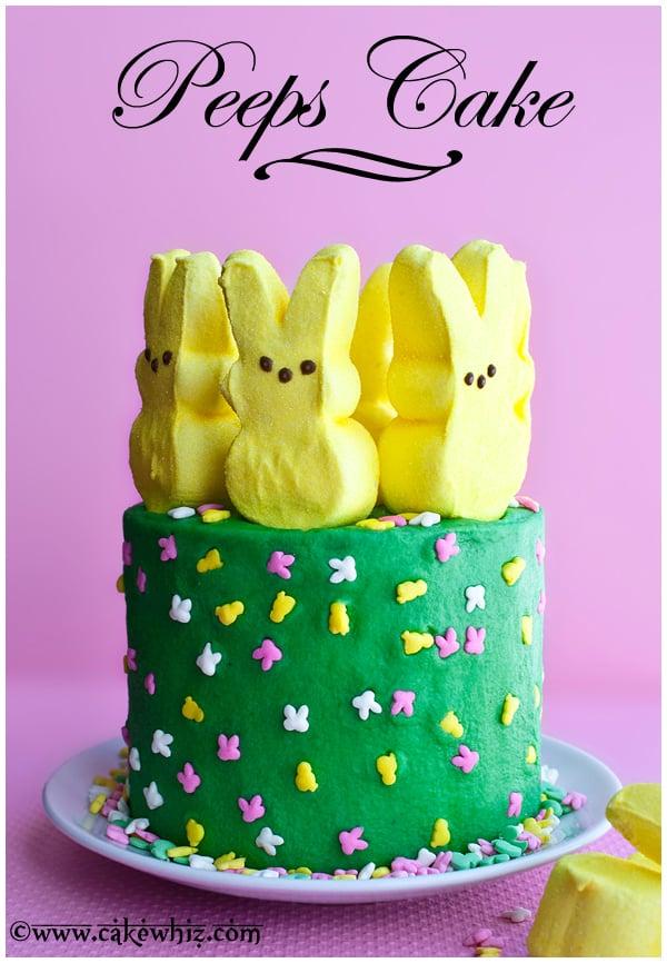 peeps cake 1