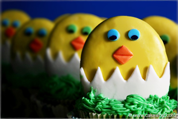 easter chick cupcakes 2