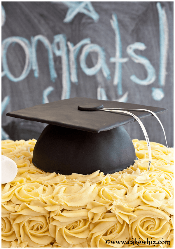 how to make graduation hat cake 3