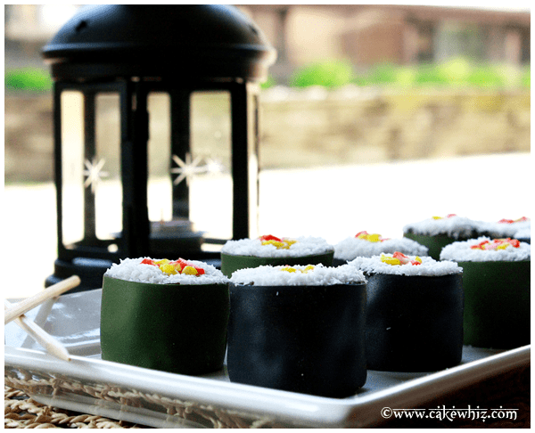 quick and easy mini sushi cakes