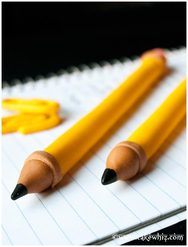 how to make a fondant pencil 4