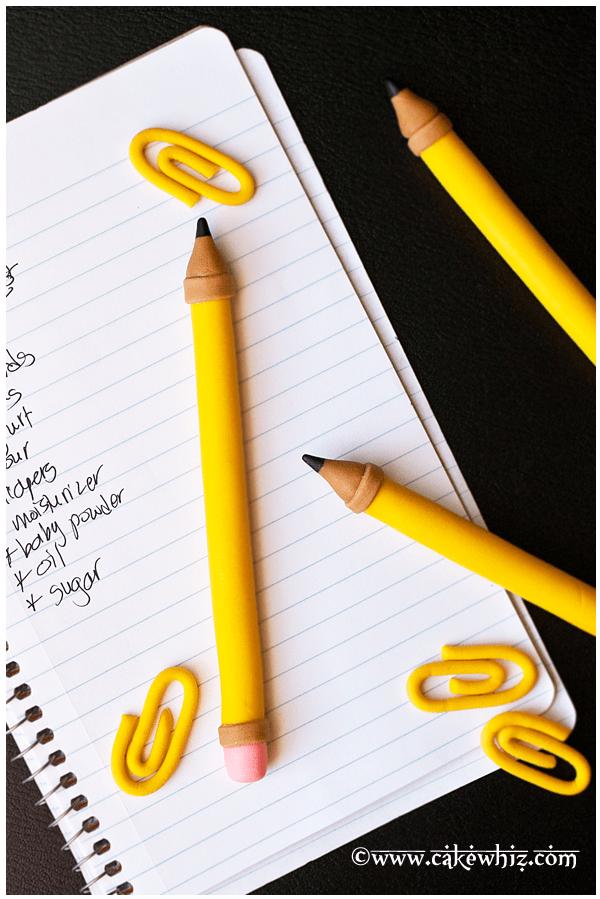 how to make a fondant pencil 1